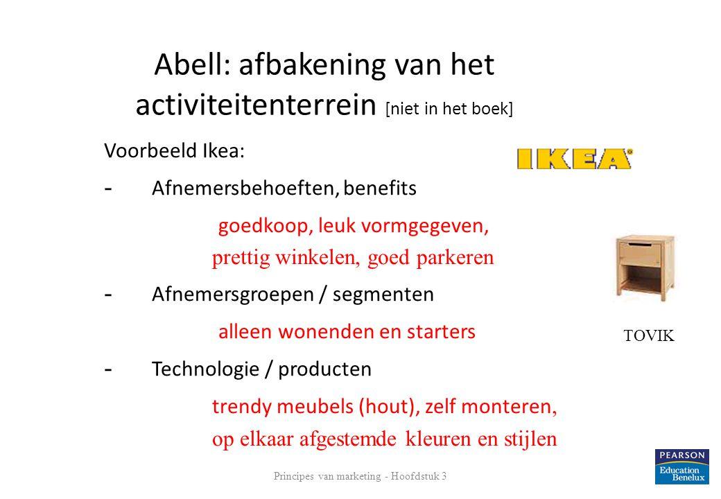 Abell: afbakening van het activiteitenterrein [niet in het boek]